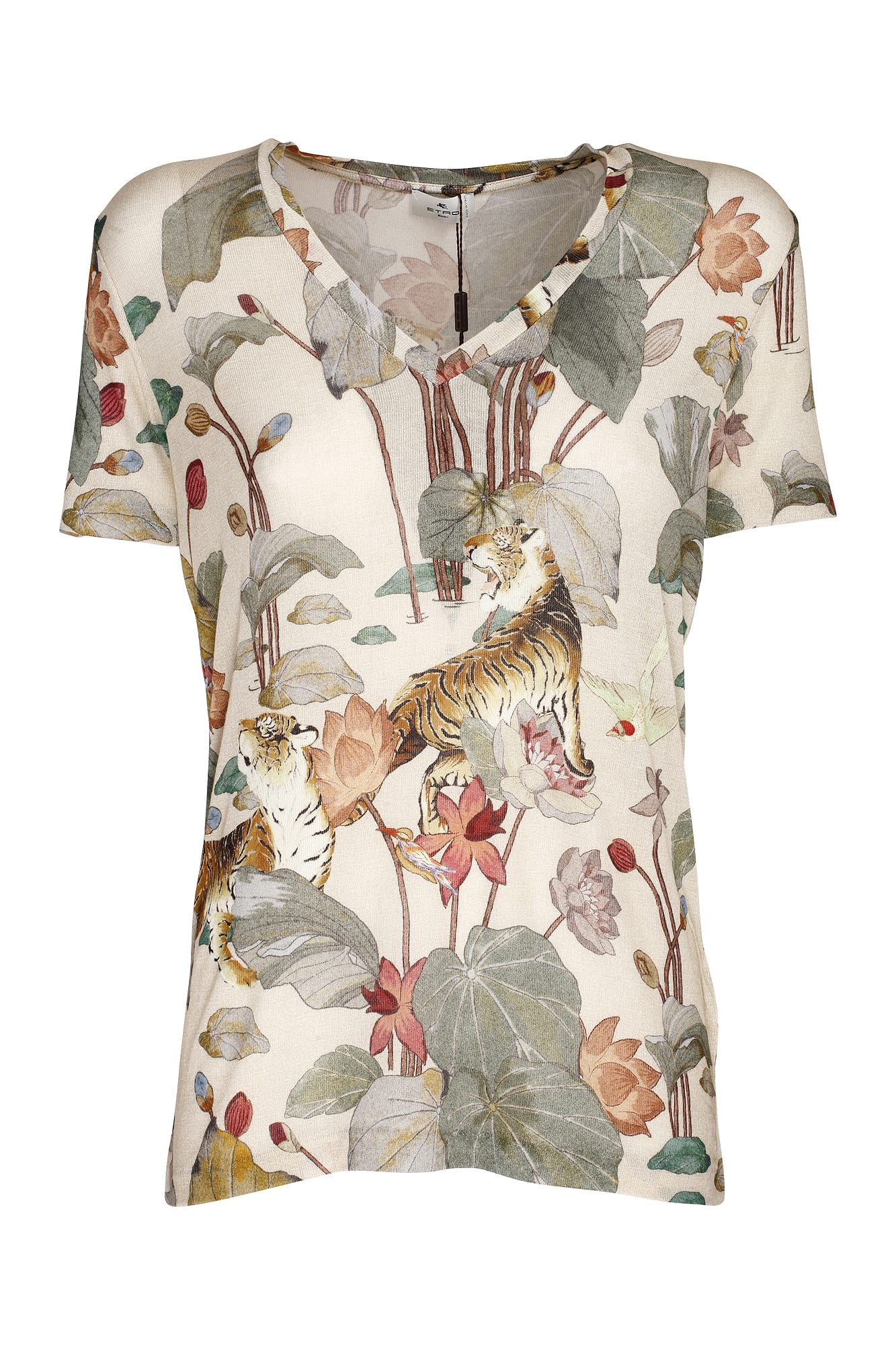 Etro Clothing COTTON JERSEY T-SHIRT DECORATED