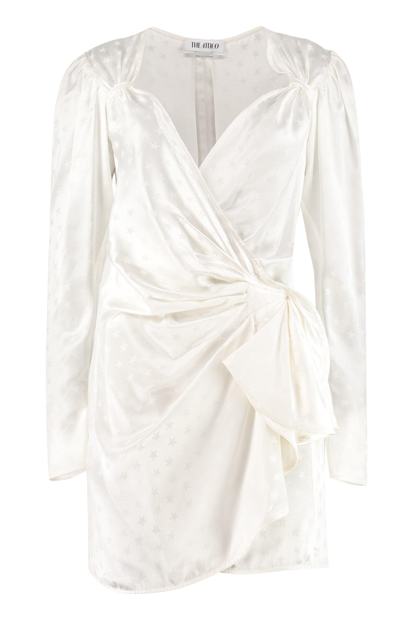 The Attico Wrap Jacquard Dress