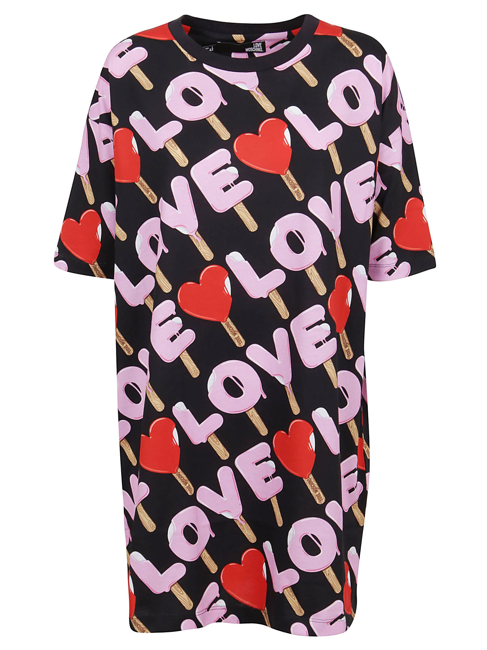 Buy Patterned Cotton Dress online, shop Love Moschino with free shipping