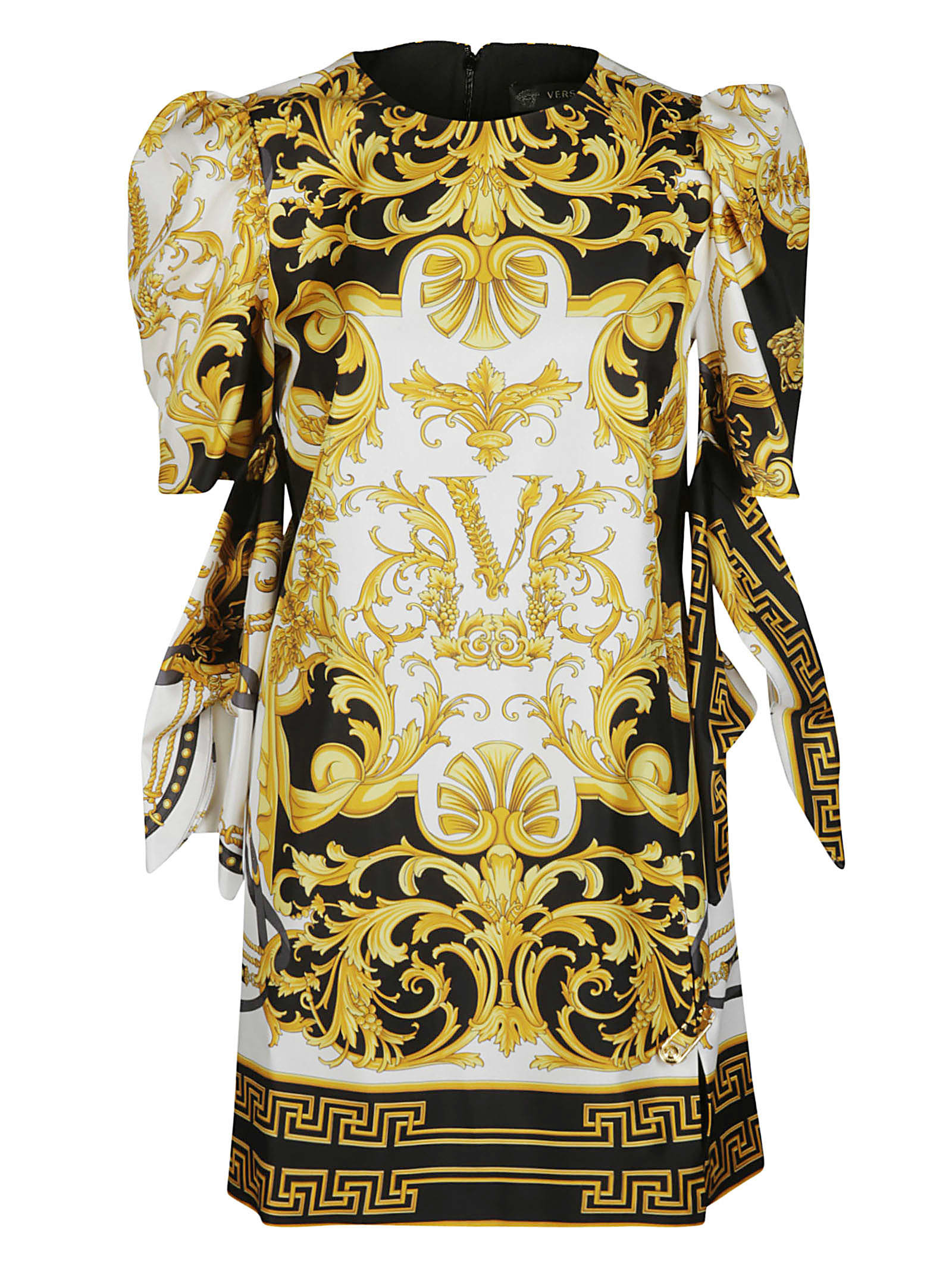 Versace Multicolor Barocco Silk Dress