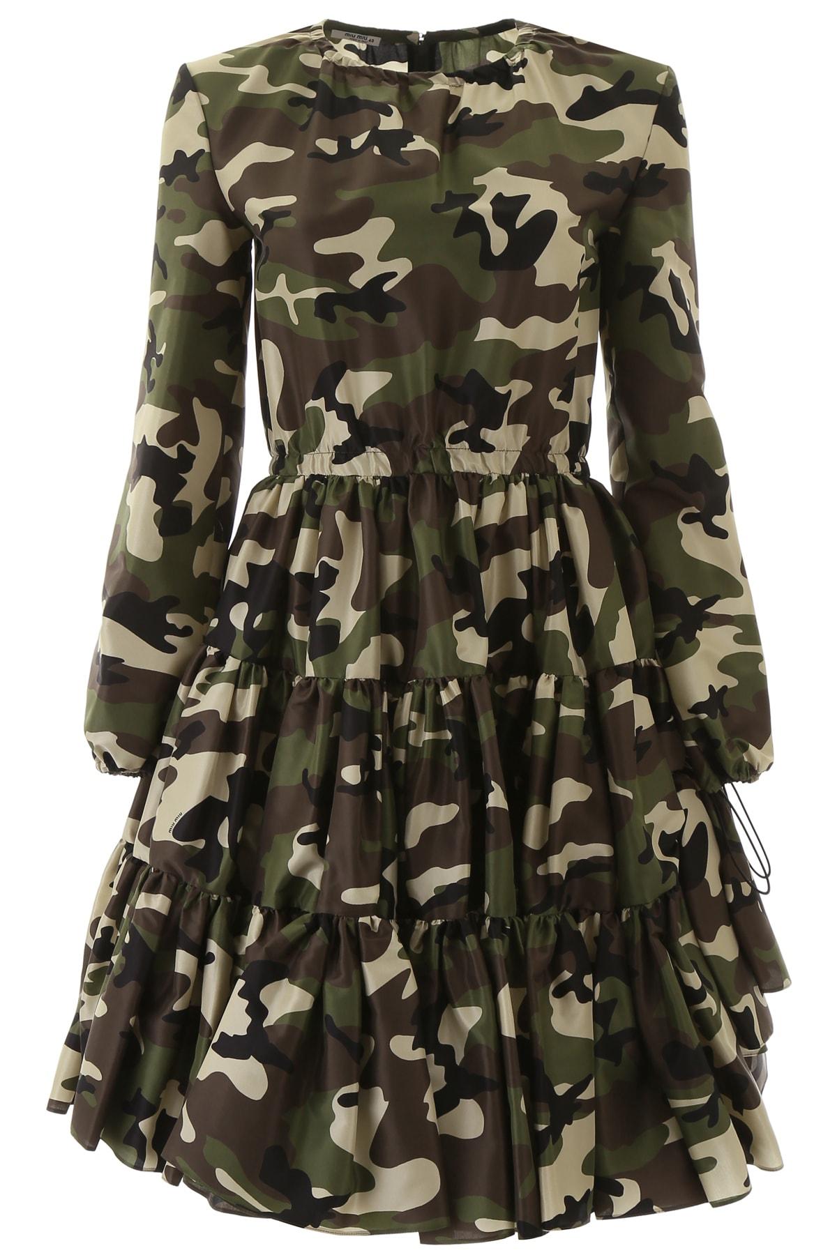 Miu Miu Camouflage Mini Dress