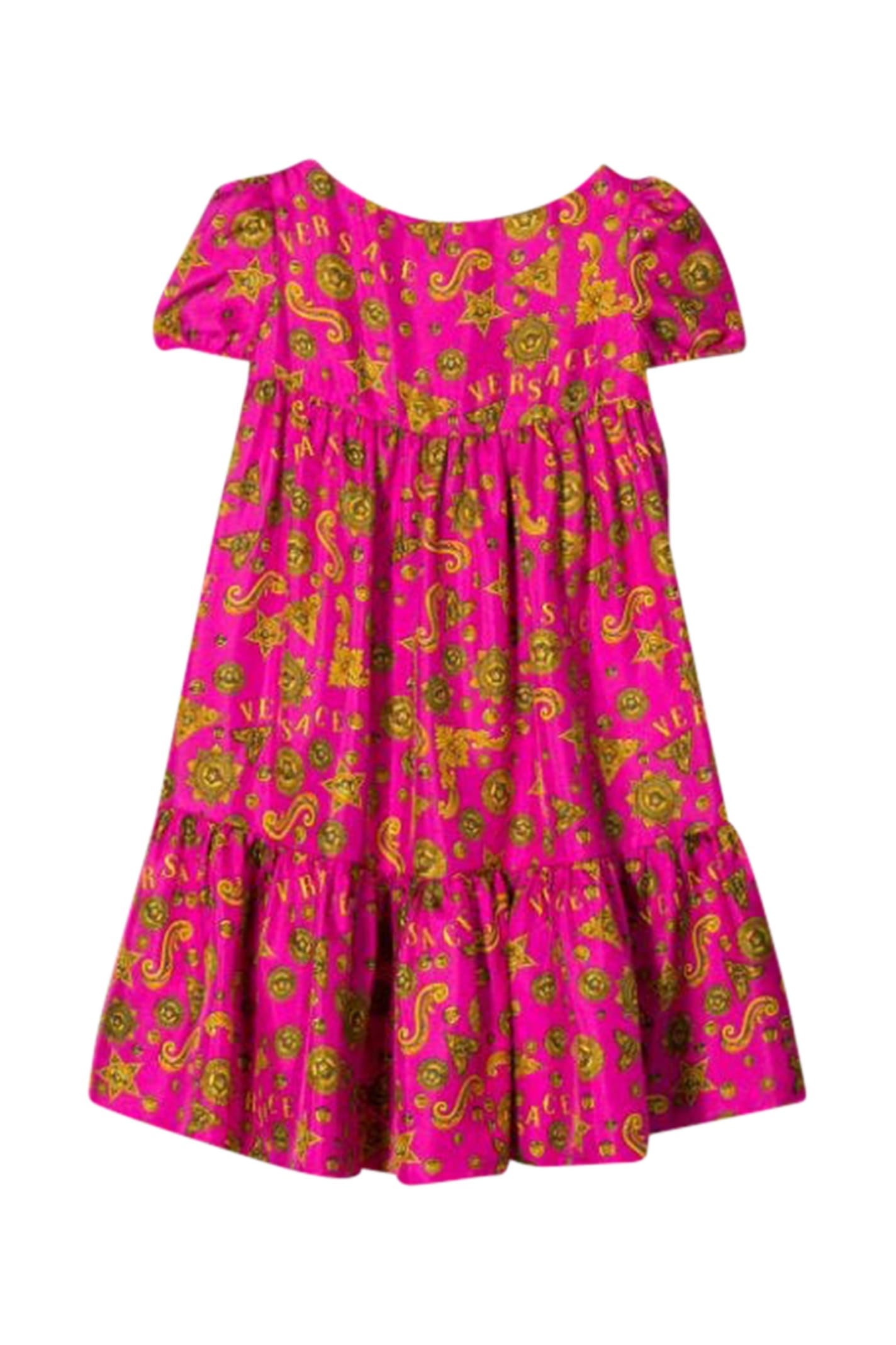 Buy Young Versace Printed Dress online, shop Young Versace with free shipping