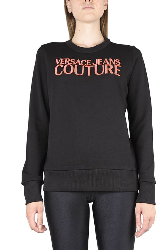 Versace Jeans Couture Cotton Sweatshirt With Embroidered Logo