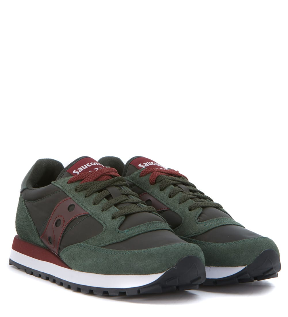 separation shoes 2087f 931e9 Saucony Sneaker Saucony Jazz In Dark Green Suede And Nylon ...
