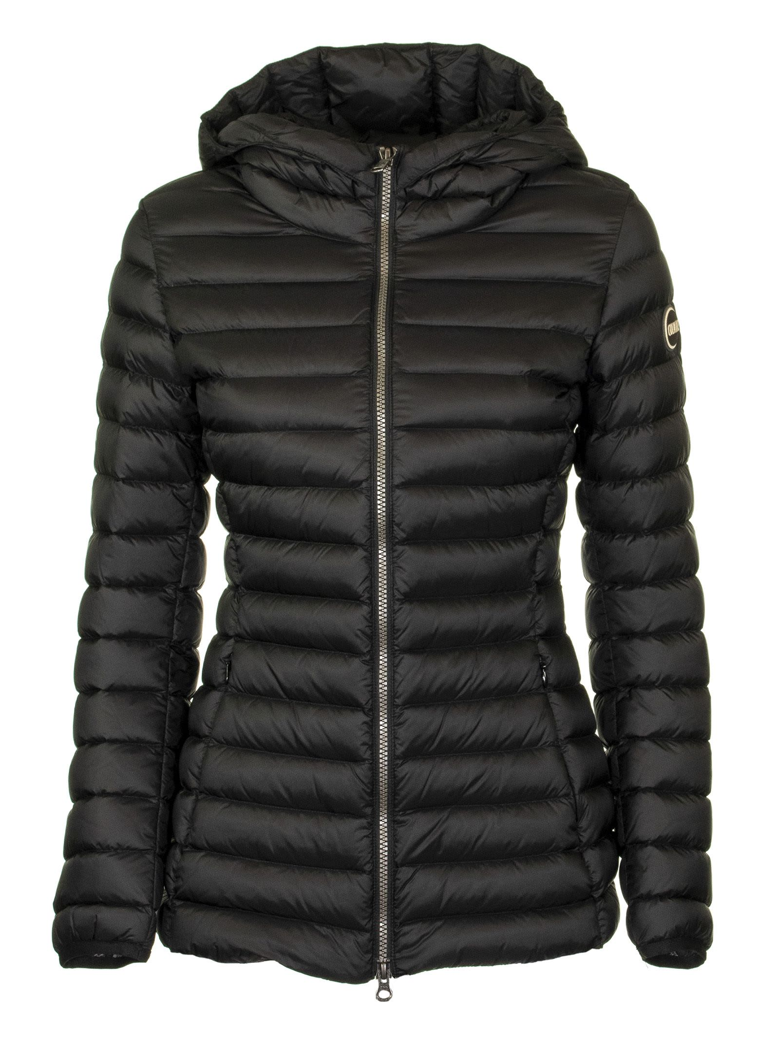 finest selection 31511 a0138 Colmar Colmar Place Glossy Down Jacket With Hood - Black ...