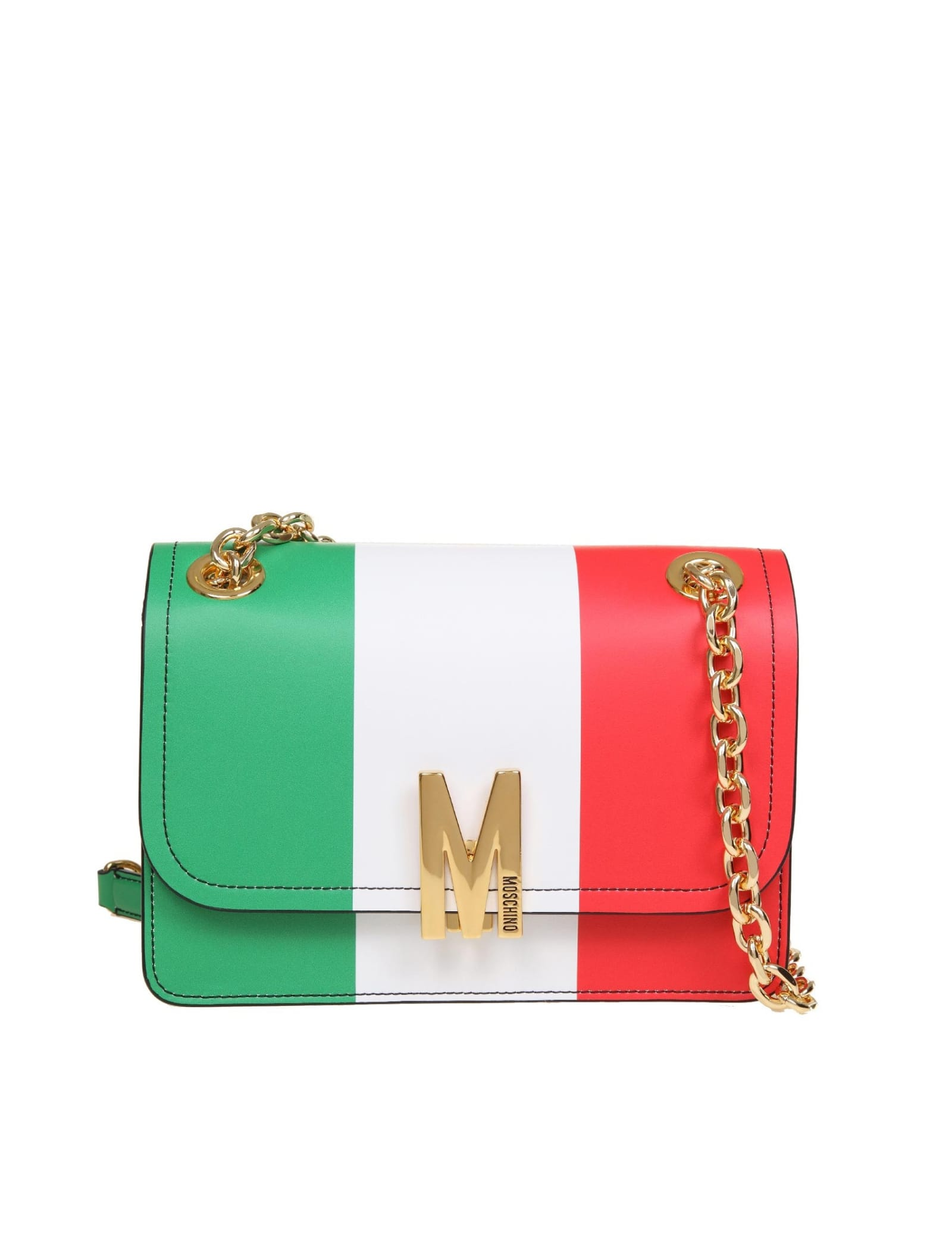 Moschino SHOULDER BAG M BAG ITALIAN FLAG
