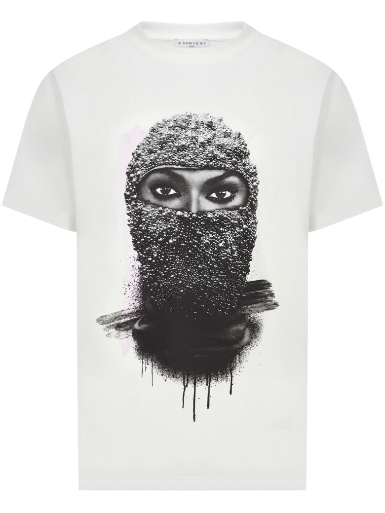 Ih Nom Uh Nit T-shirts T-SHIRT CLASSIC FIT WITH BLACK PEARL WOMAN MASK ON FRONT