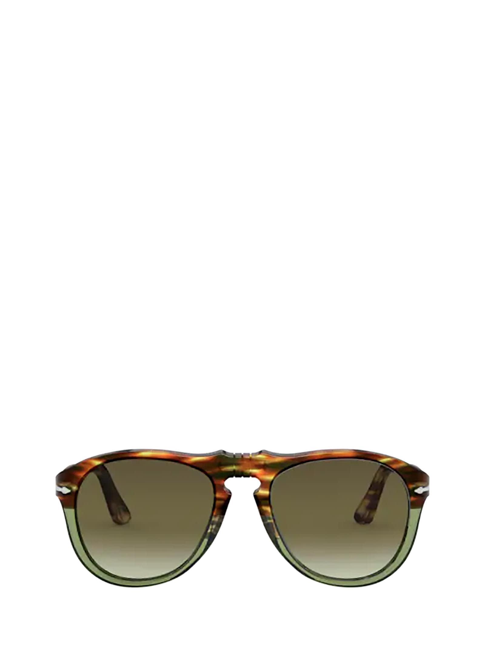 Persol Persol Po0649 Striped Brown/transp Green Sunglasses