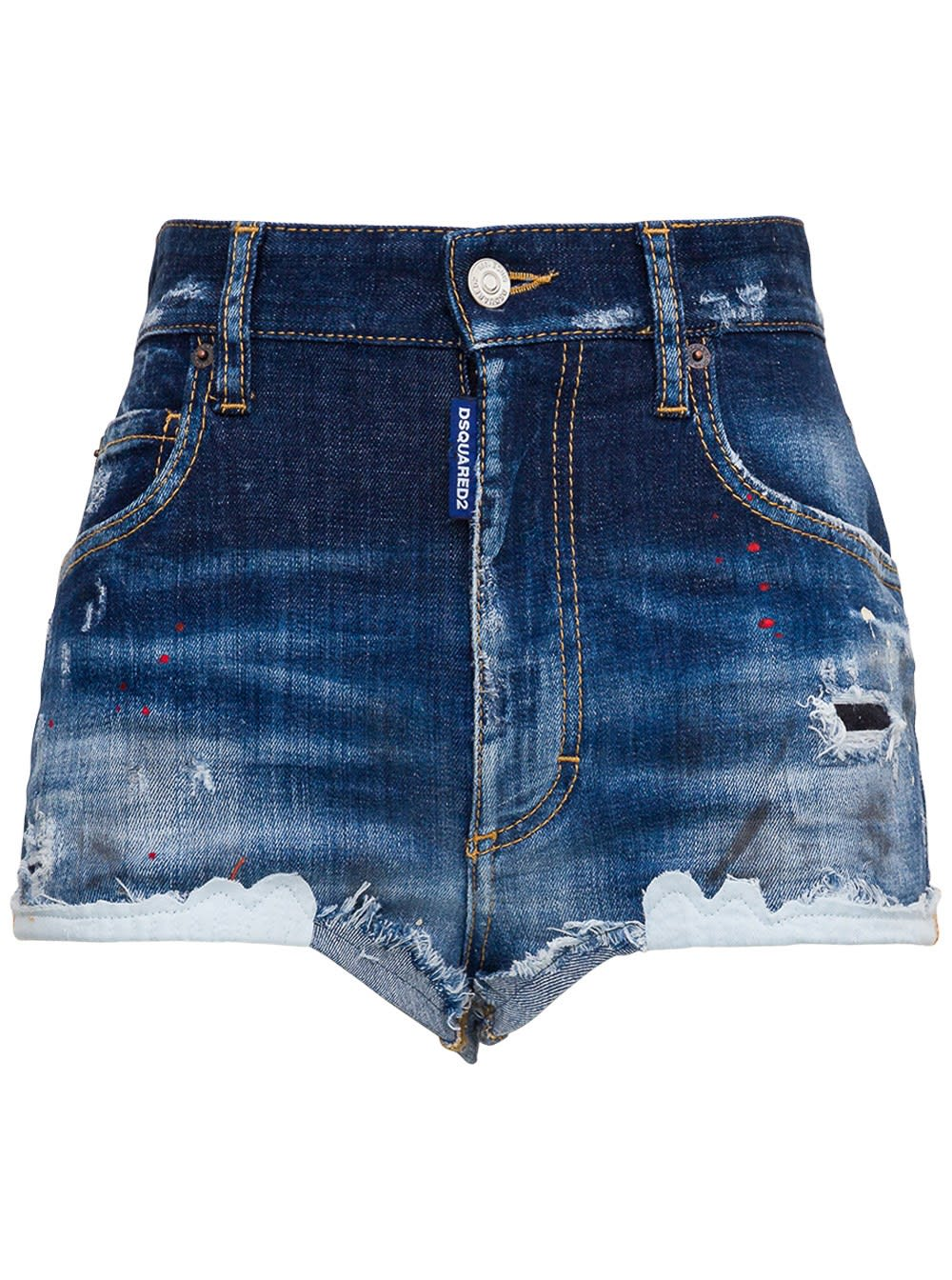 Dsquared2 DESTROYED SHORTS WITH PAINTED DETAILS