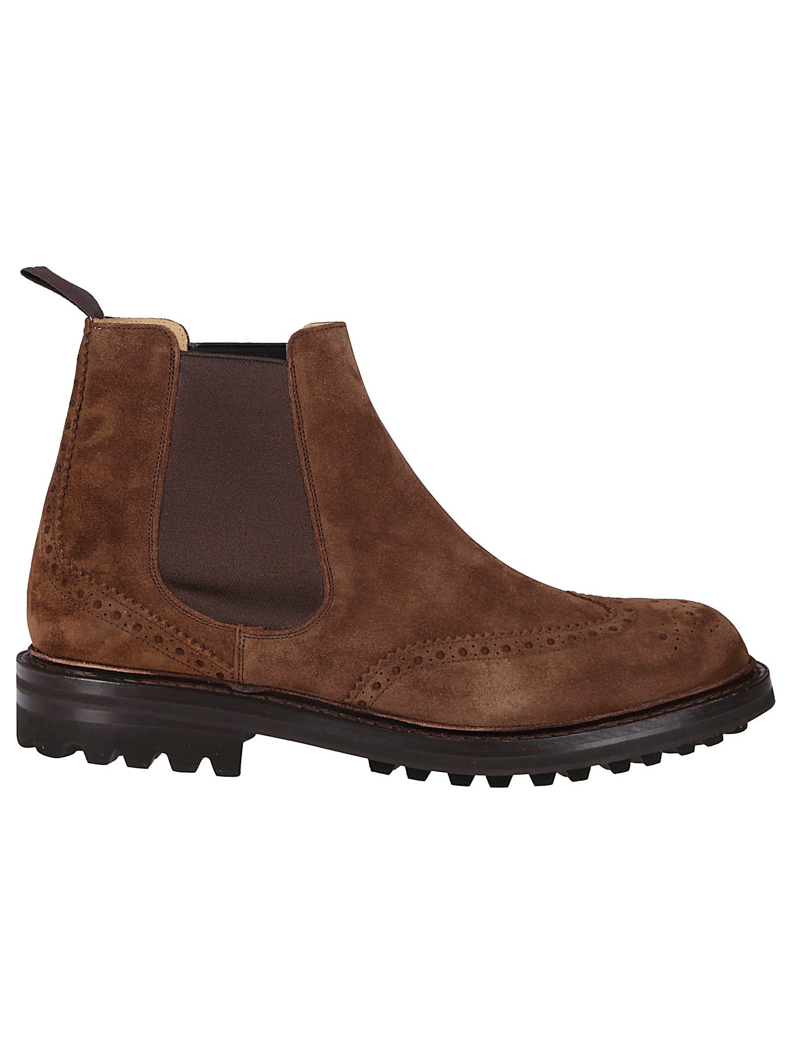 CHURCH'S BROWN SUEDE CHELSEA BOOTS