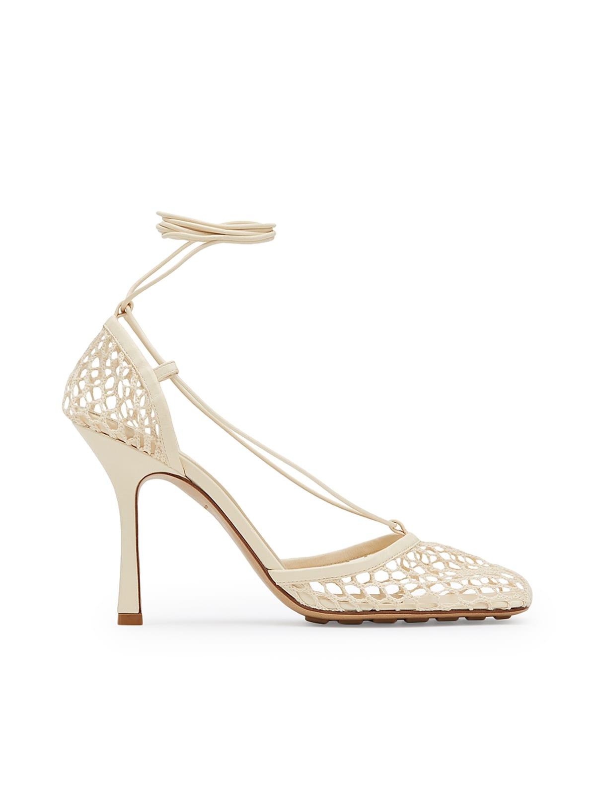 Buy Bottega Veneta Strech Sandal Fabric online, shop Bottega Veneta shoes with free shipping
