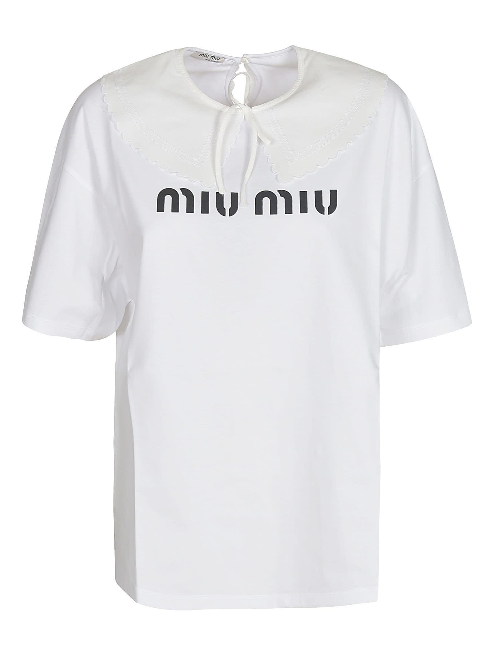Miu Miu LOGO PRINTED T-SHIRT
