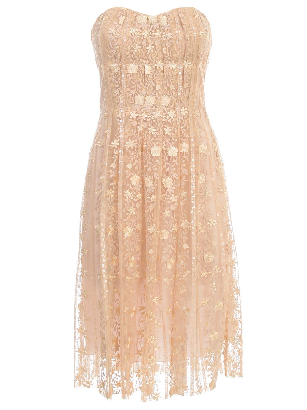 Buy Blumarine Bustier Dress W/s W/lace online, shop Blumarine with free shipping