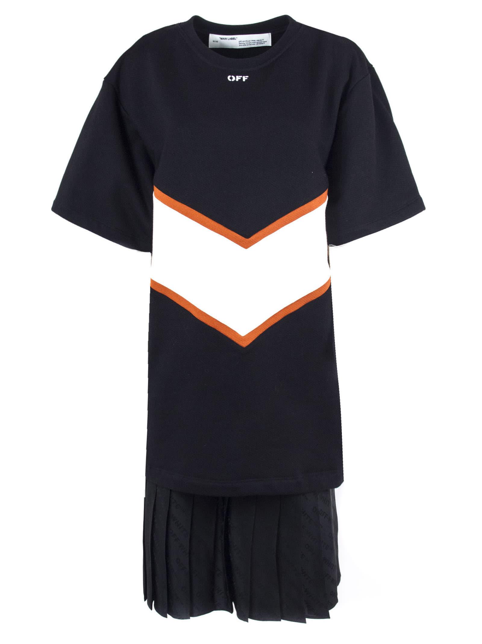 Off-White Black Intarsia Sweatshirt Dress