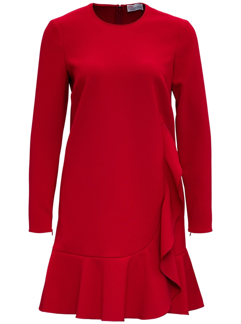 RED Valentino Red Cady Dress With Ruffles