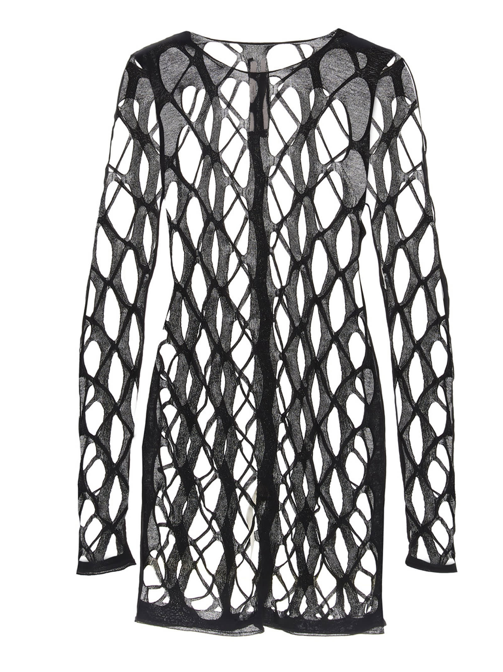 Buy net Ls Round Neck Dress online, shop Rick Owens with free shipping