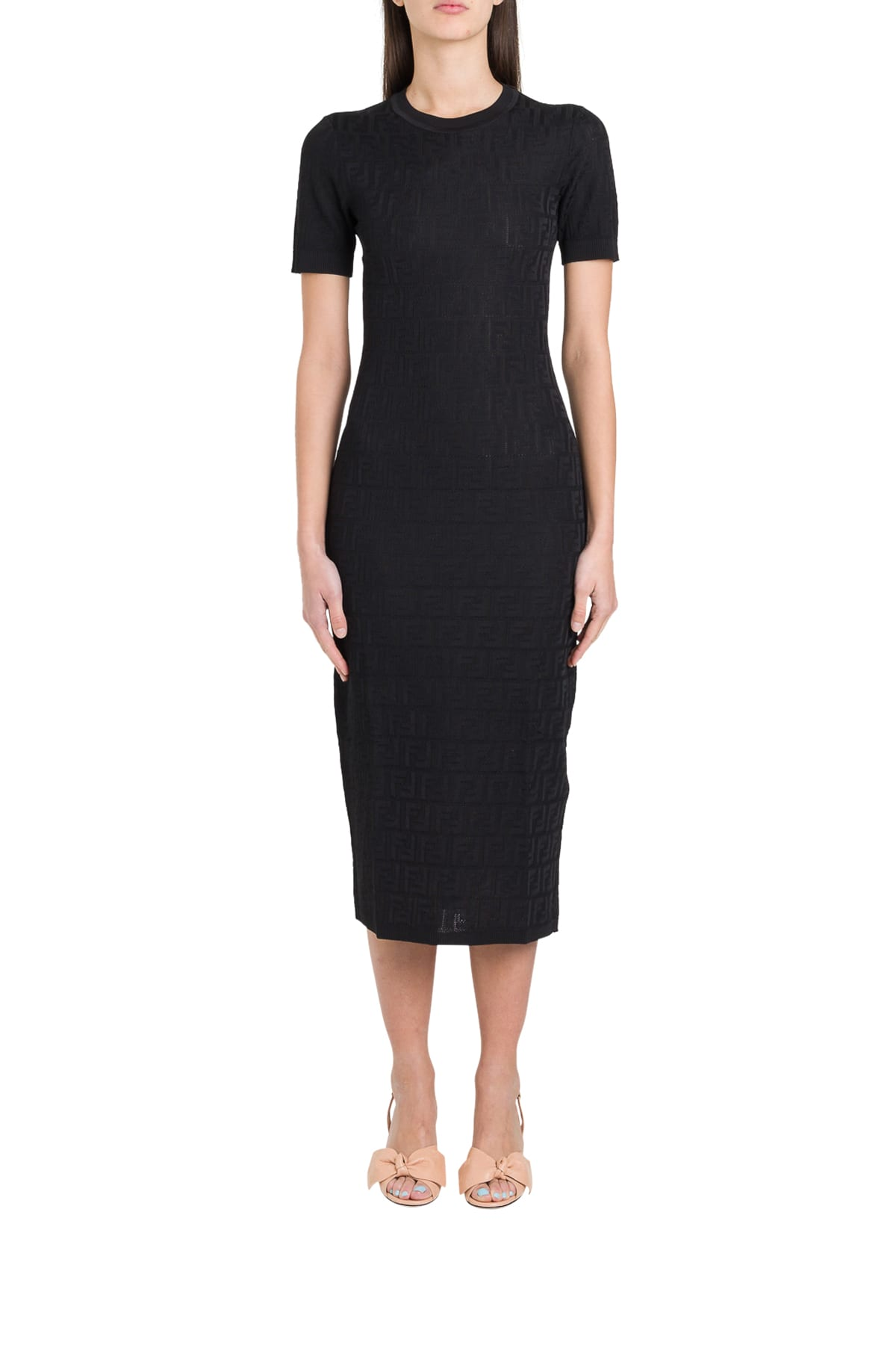 Buy Fendi Ff Longuette Dress online, shop Fendi with free shipping