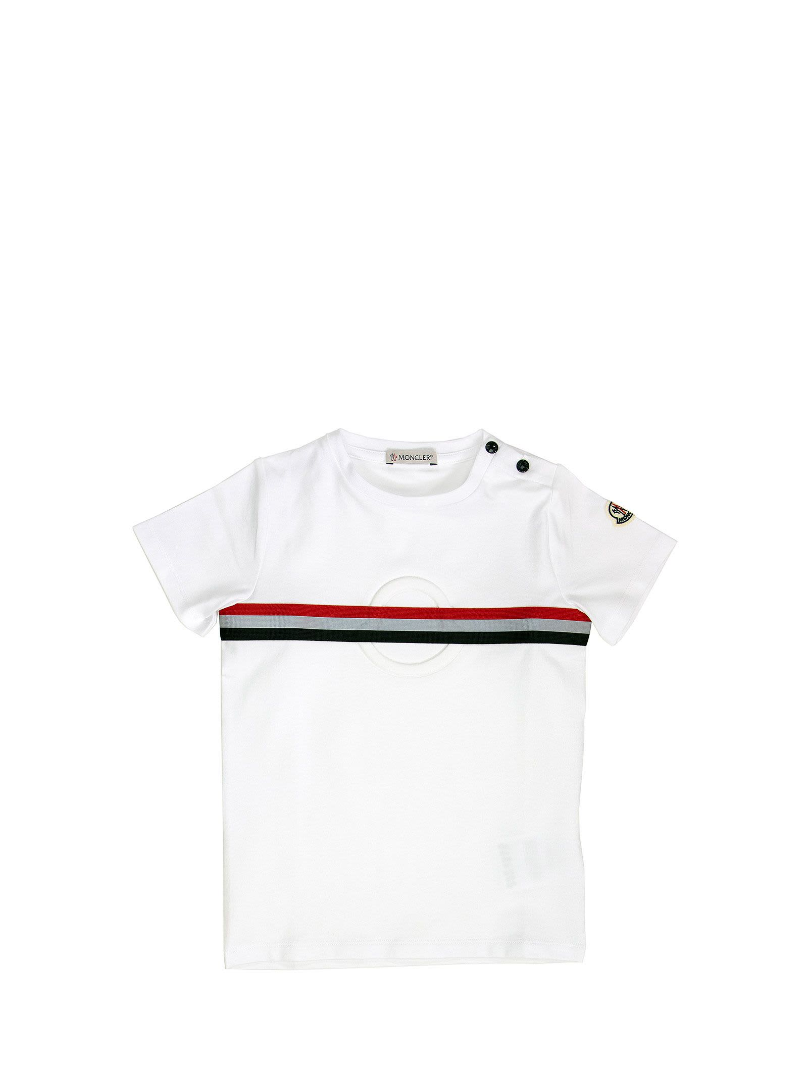 Moncler Cottons LOGO COTTON T-SHIRT WHITE
