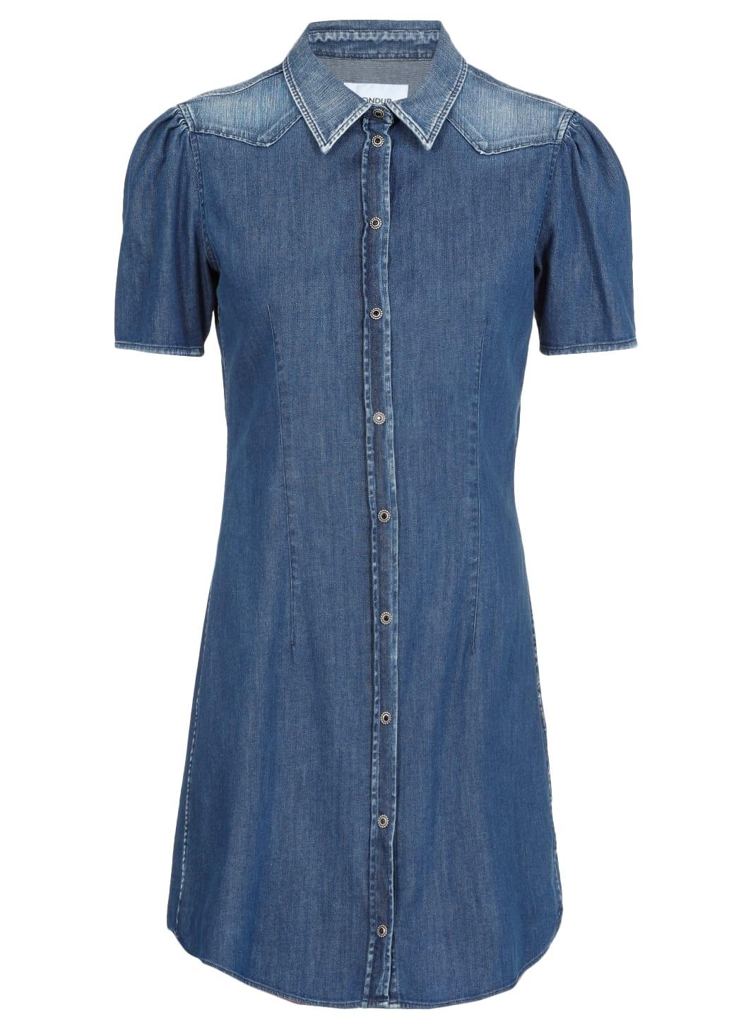 Buy Dondup Denim Midi Dress online, shop Dondup with free shipping