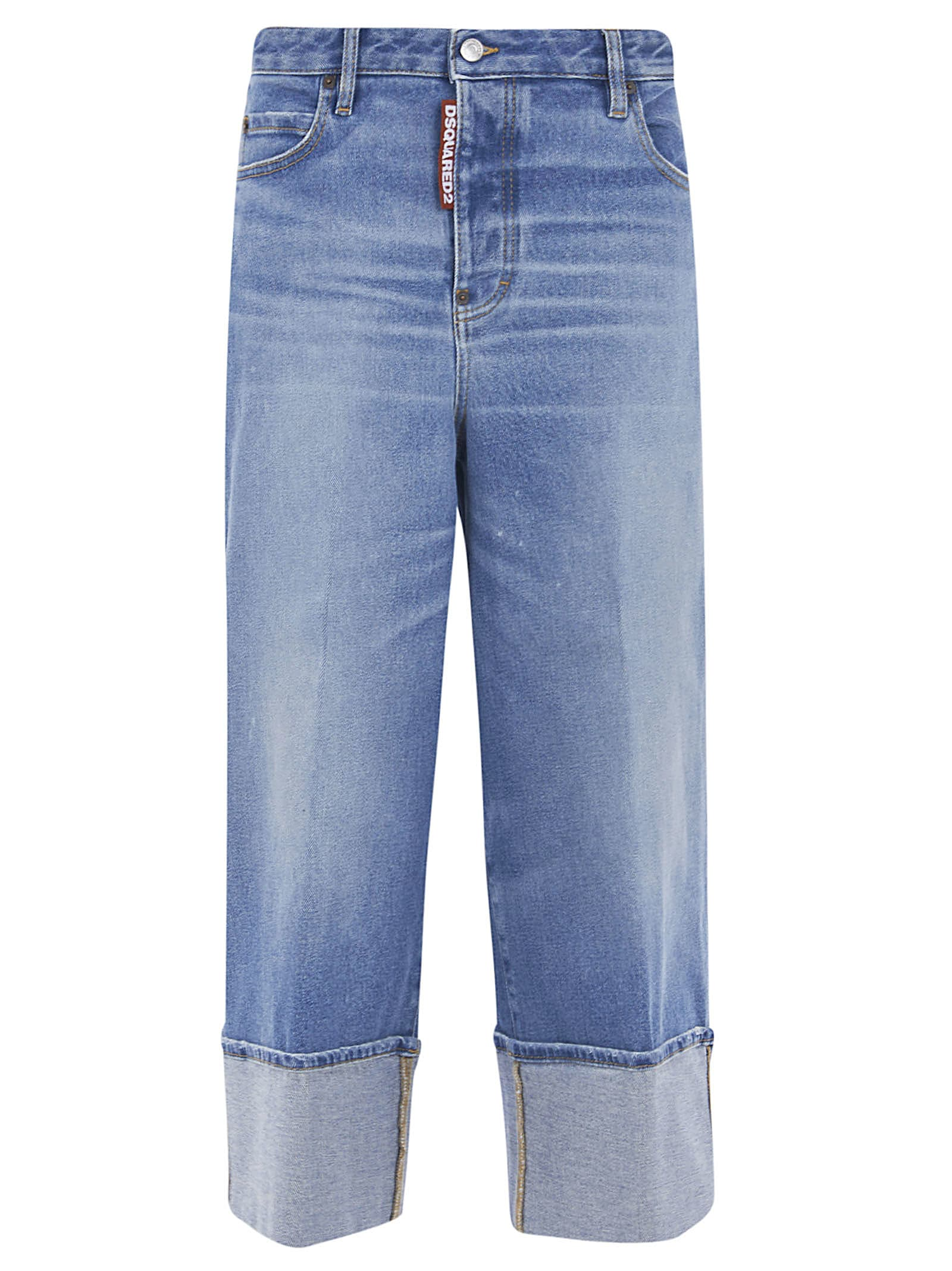 Dsquared2 Folded Cuff Cropped Jeans