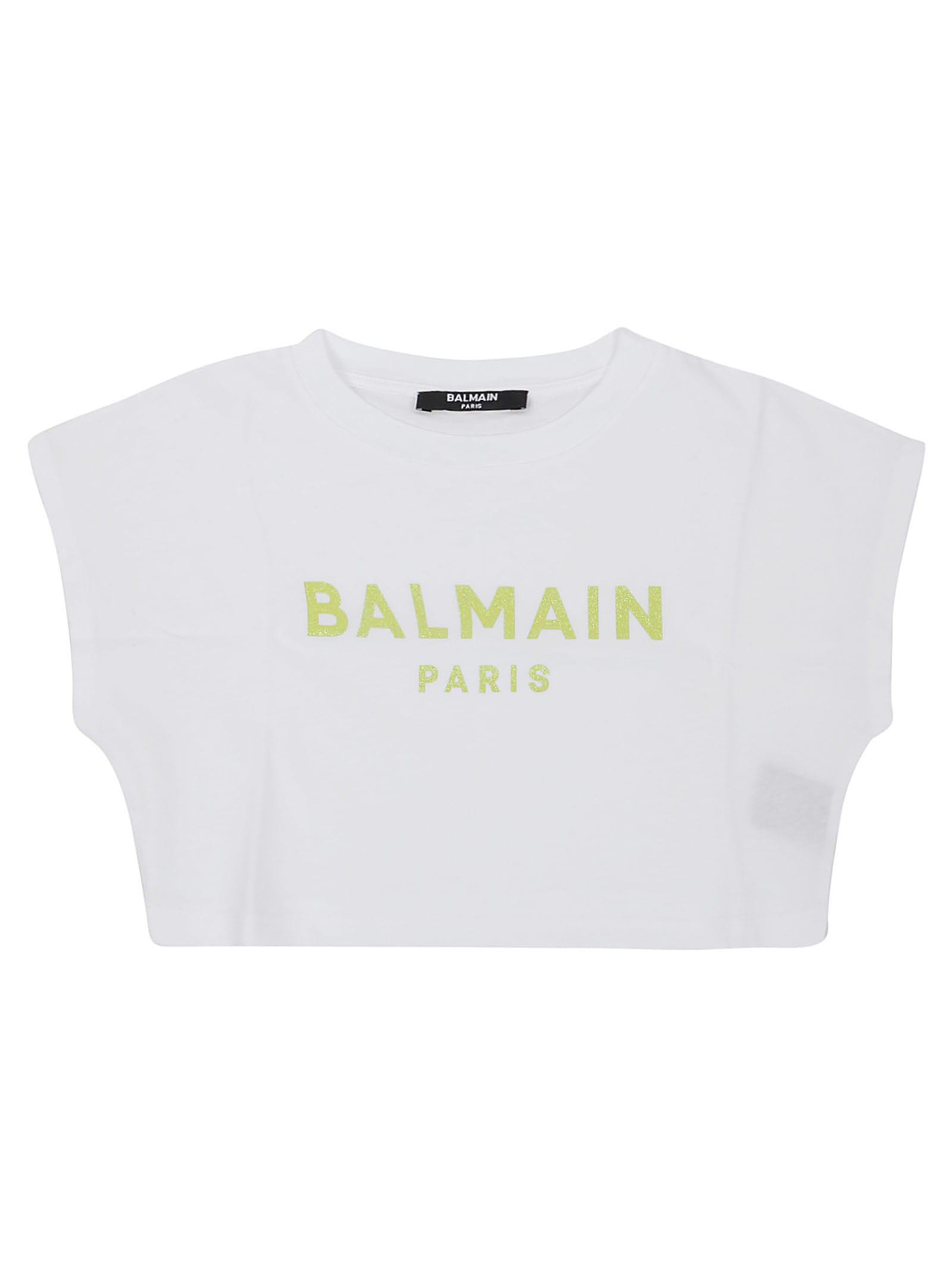 Balmain Kids' T-shirt In Bianco
