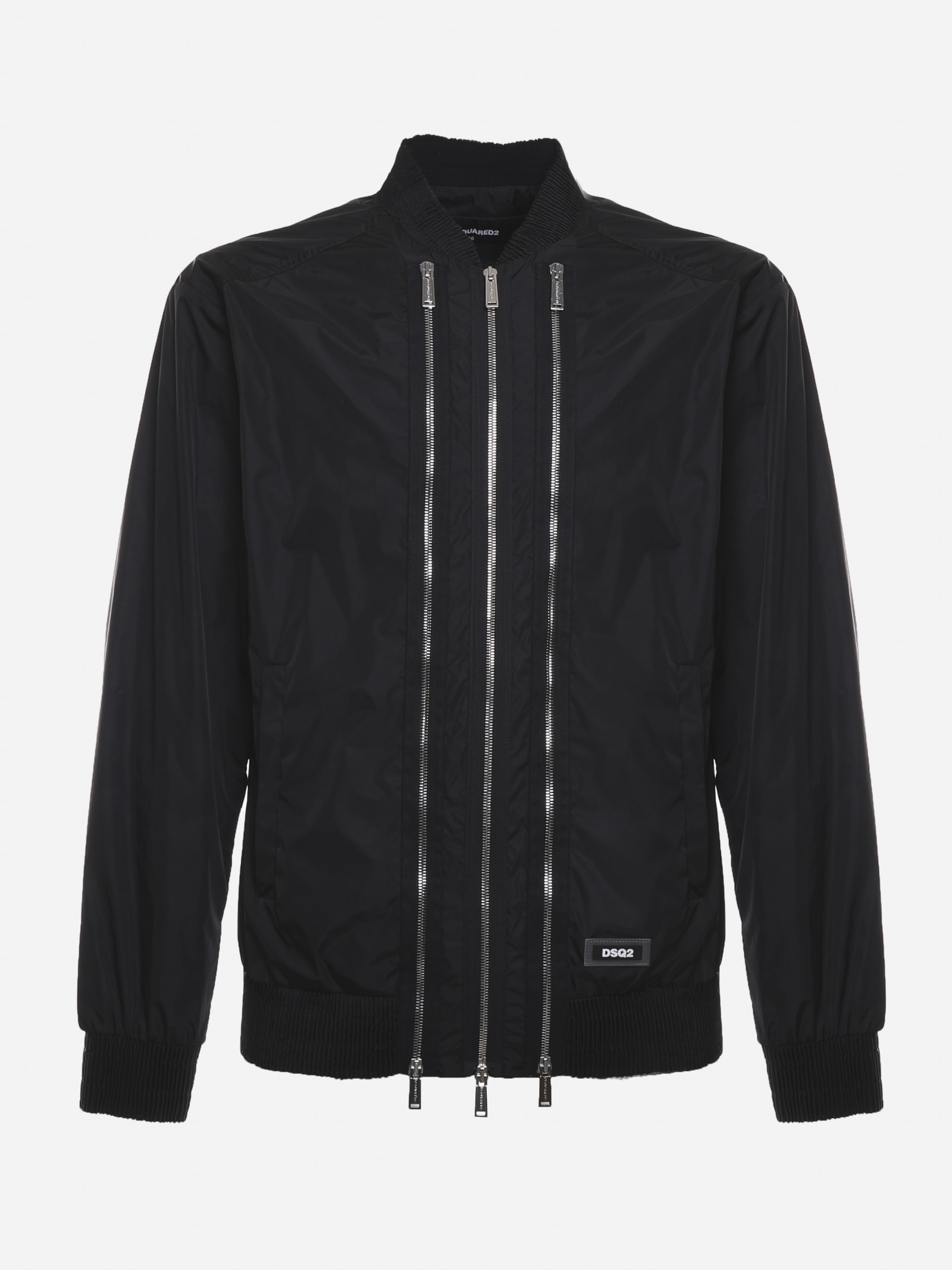 Dsquared2 Bomber jackets BOMBER IN TECHNICAL FABRIC WITH TRIPLE ZIP