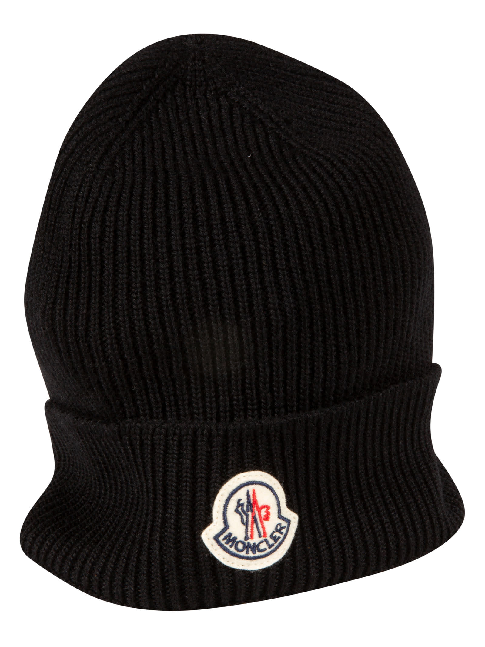 Moncler Logo Patched Beanie