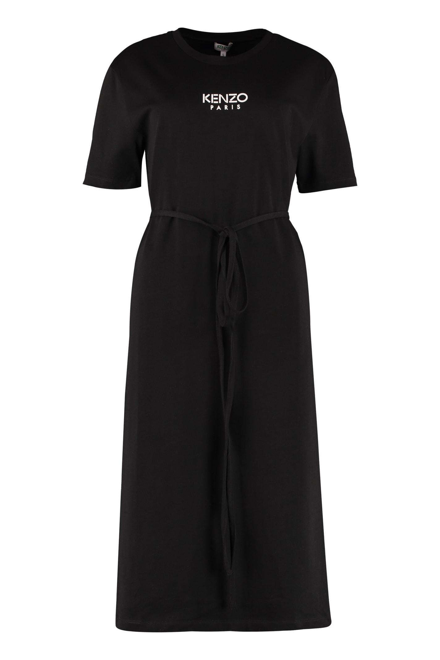 Buy Kenzo Logo Print T-shirt Dress online, shop Kenzo with free shipping