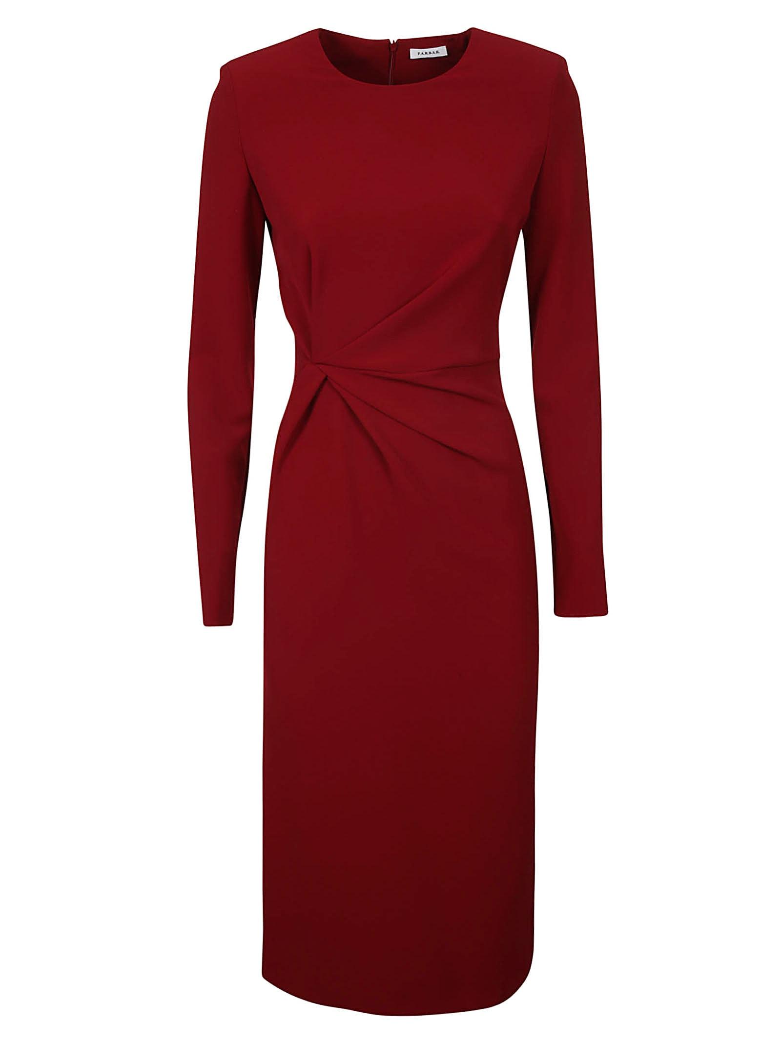Parosh Rear Zipped Dress