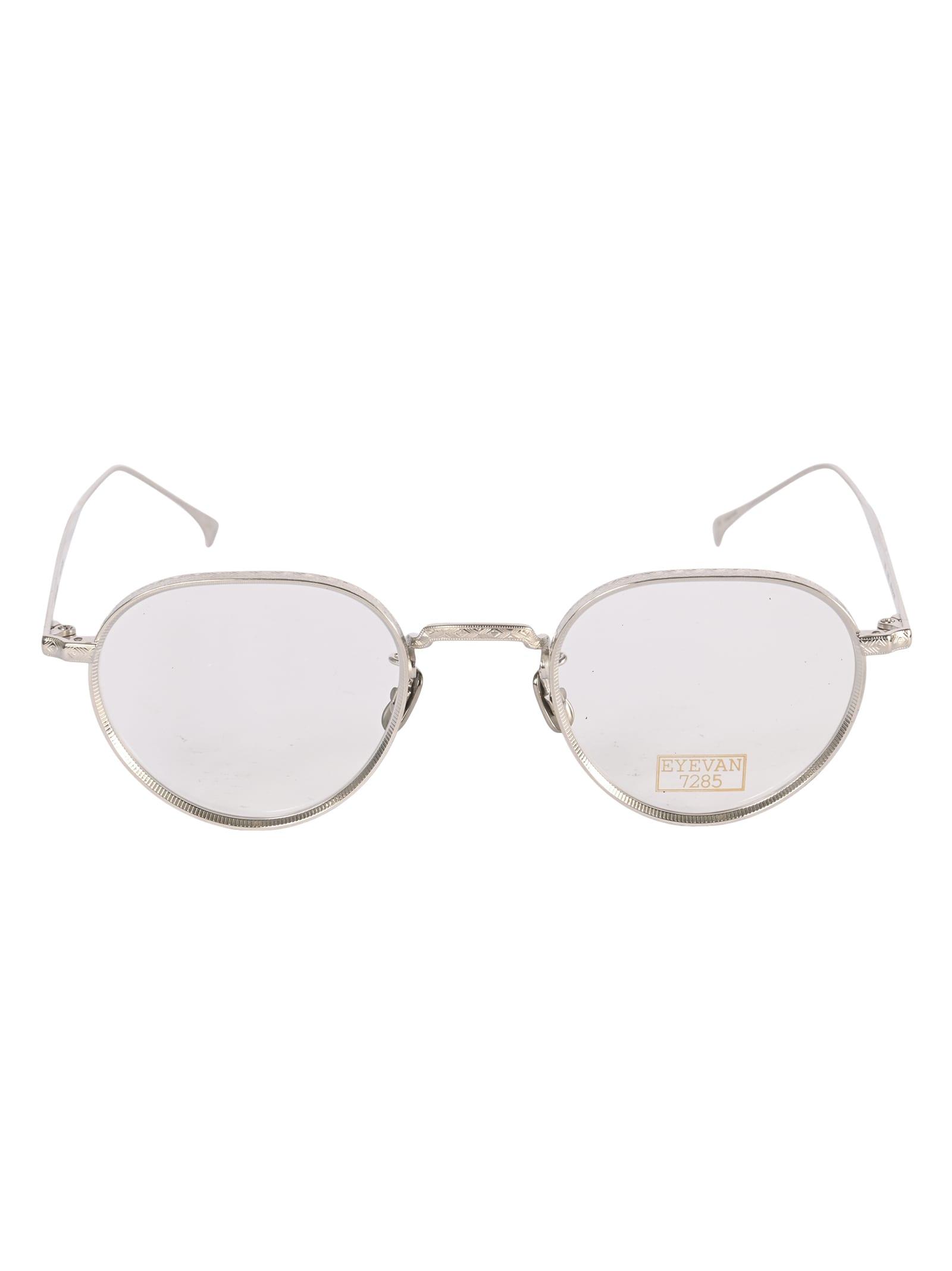 Metallic Classic Frame Glasses