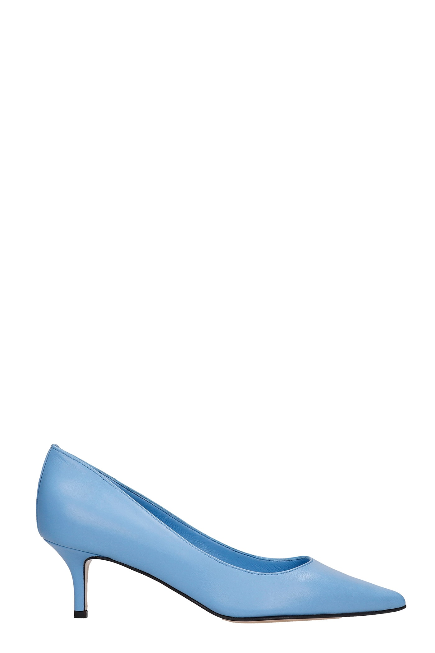 Donna Pumps In Cyan Leather