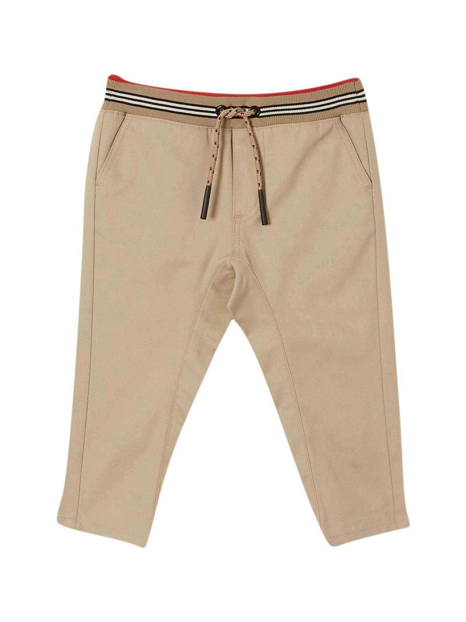 Burberry Babies' Beige Trousers In Sabbia