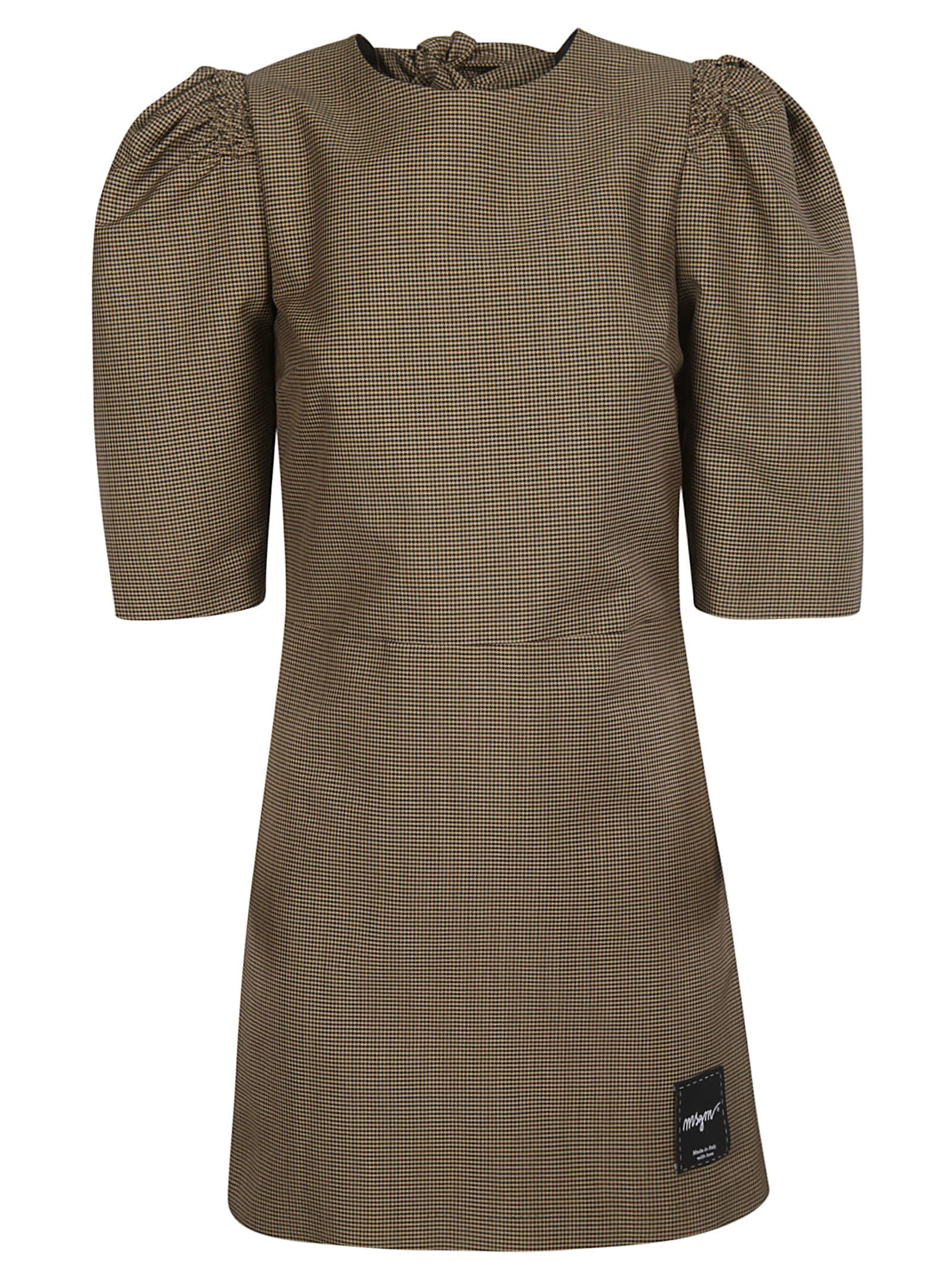 Buy MSGM Tie Detail Dress online, shop MSGM with free shipping