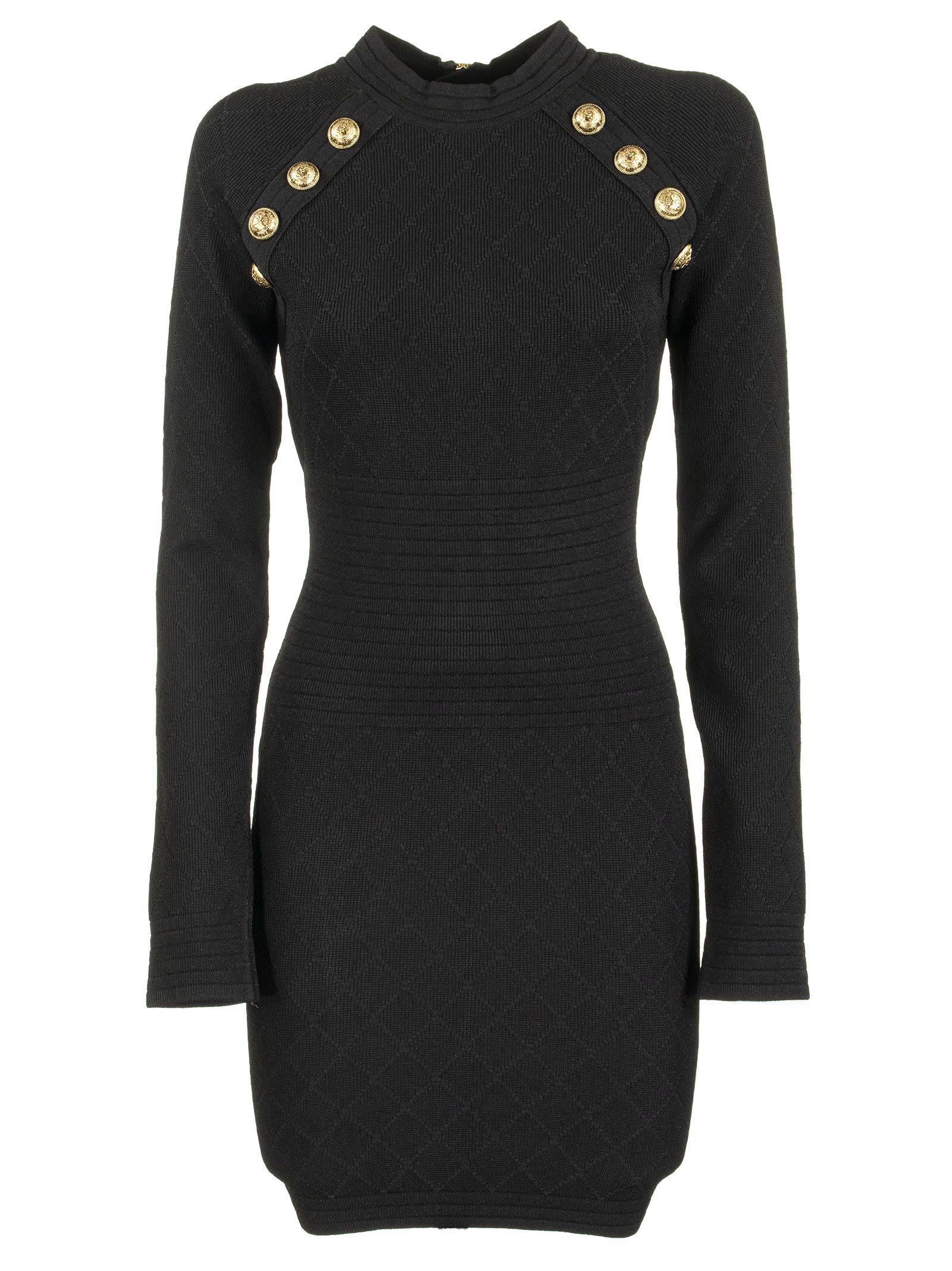 Balmain Diamond Dress Noir
