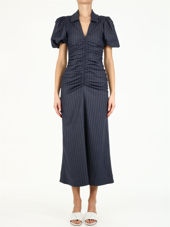 Ganni Stretch Stripe Dress
