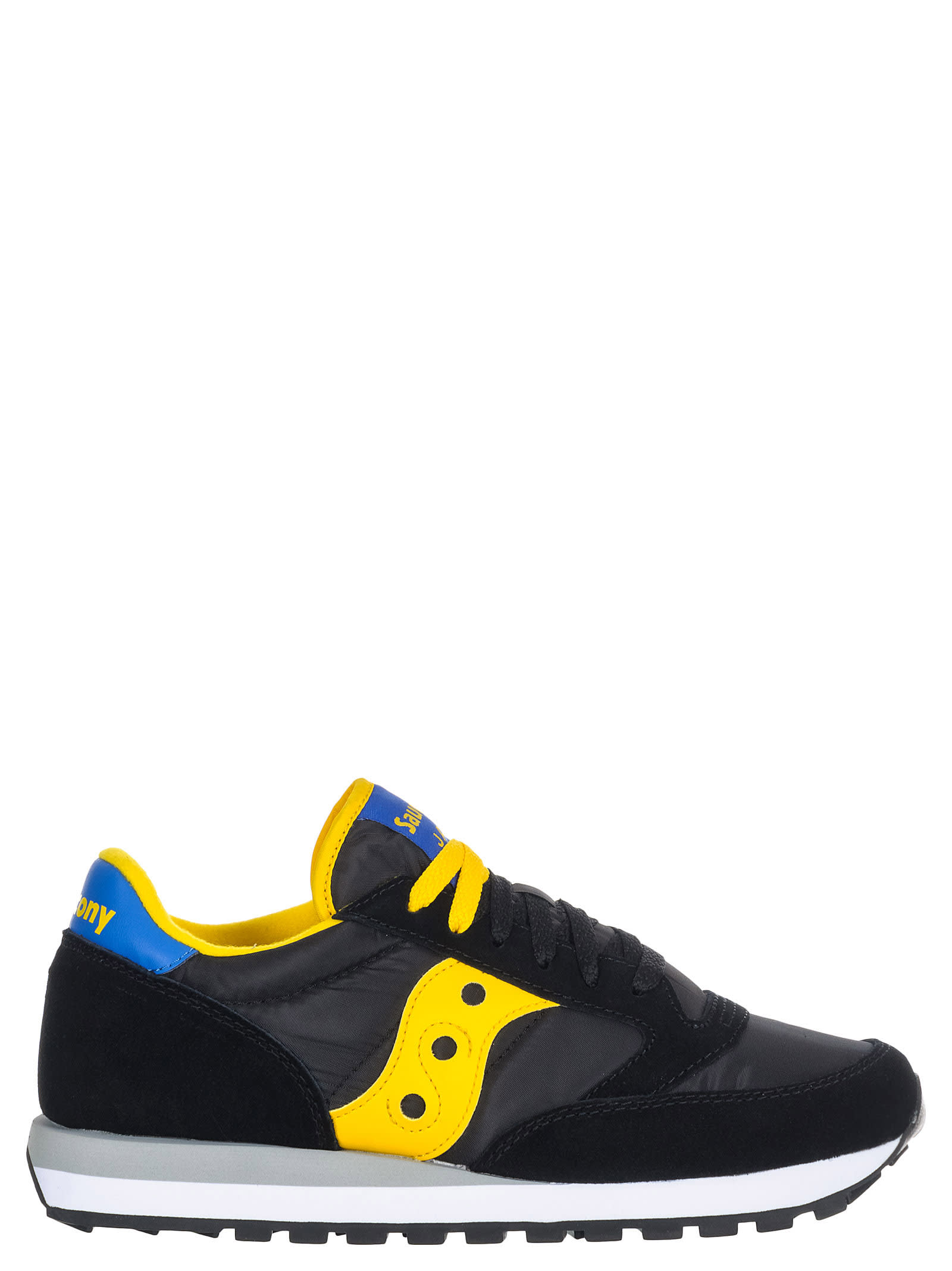 buy popular a5eab d15e5 Best price on the market at italist | Saucony Saucony Jazz  Black/yellow/blue Sneakers