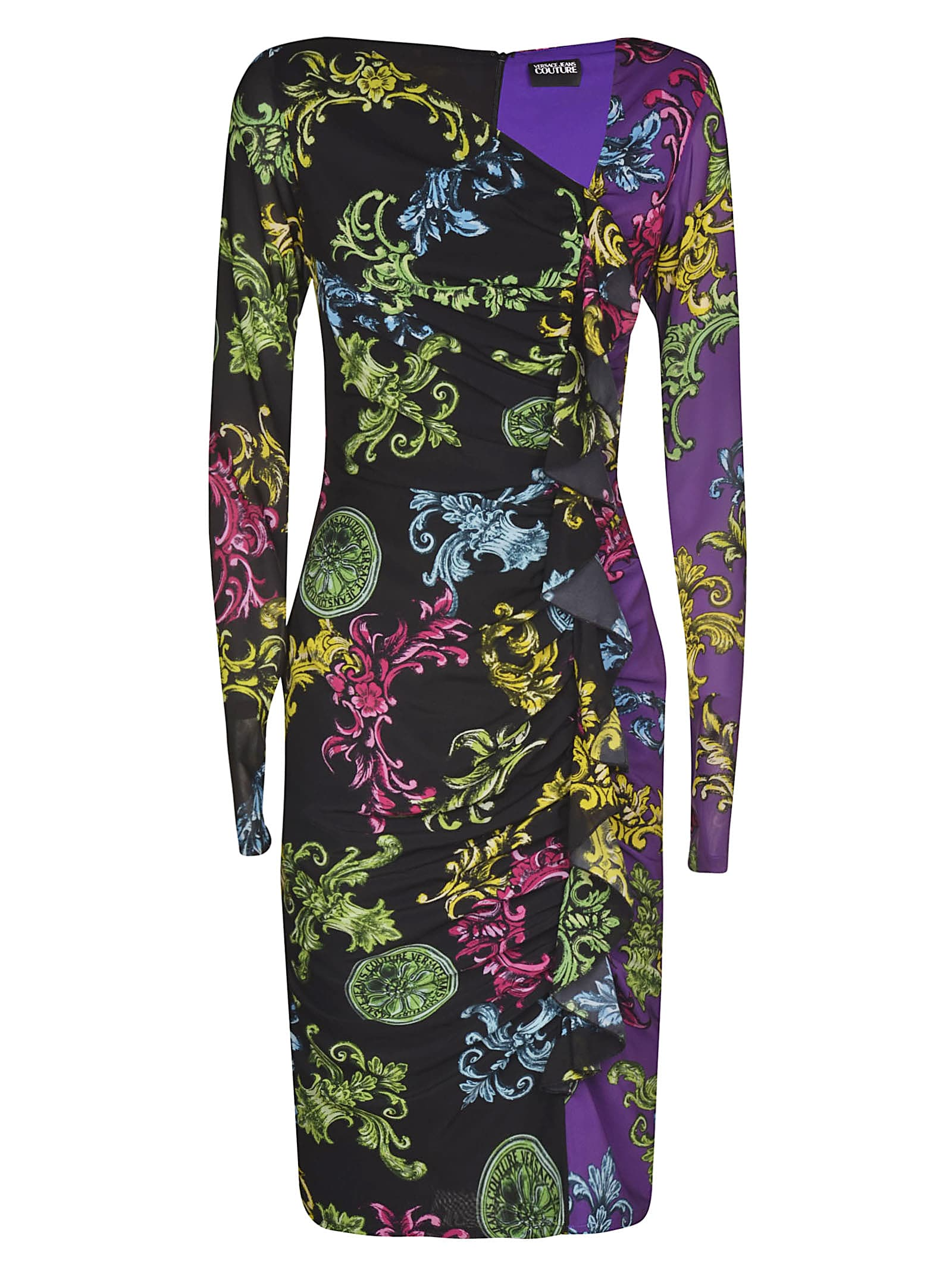 Versace Jeans Couture Baroque Mid-length Printed Dress