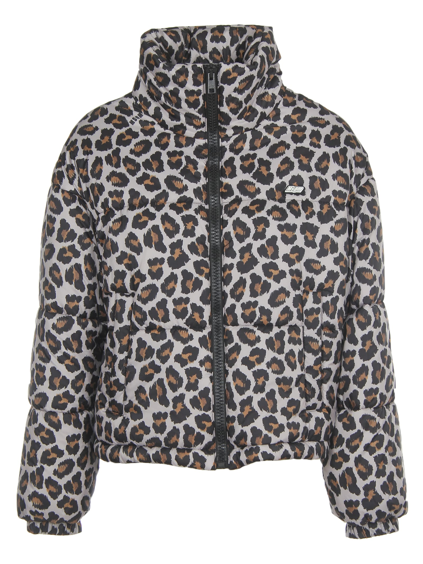 MSGM Leopard Print Down Short Jacket
