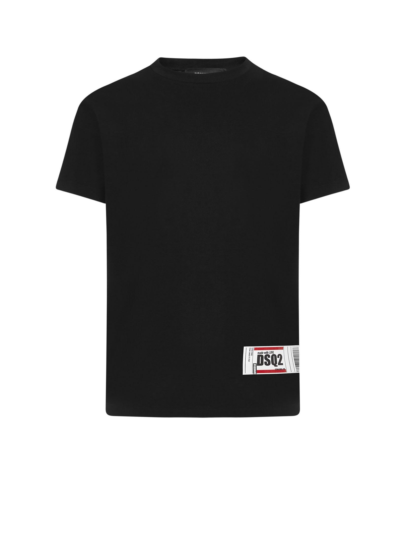 Dsquared2 T-shirts DSQUARED BLACK T-SHIRT