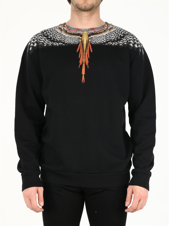 Marcelo Burlon County Of Milan Cottons BLACK WINGS SWEATSHIRT