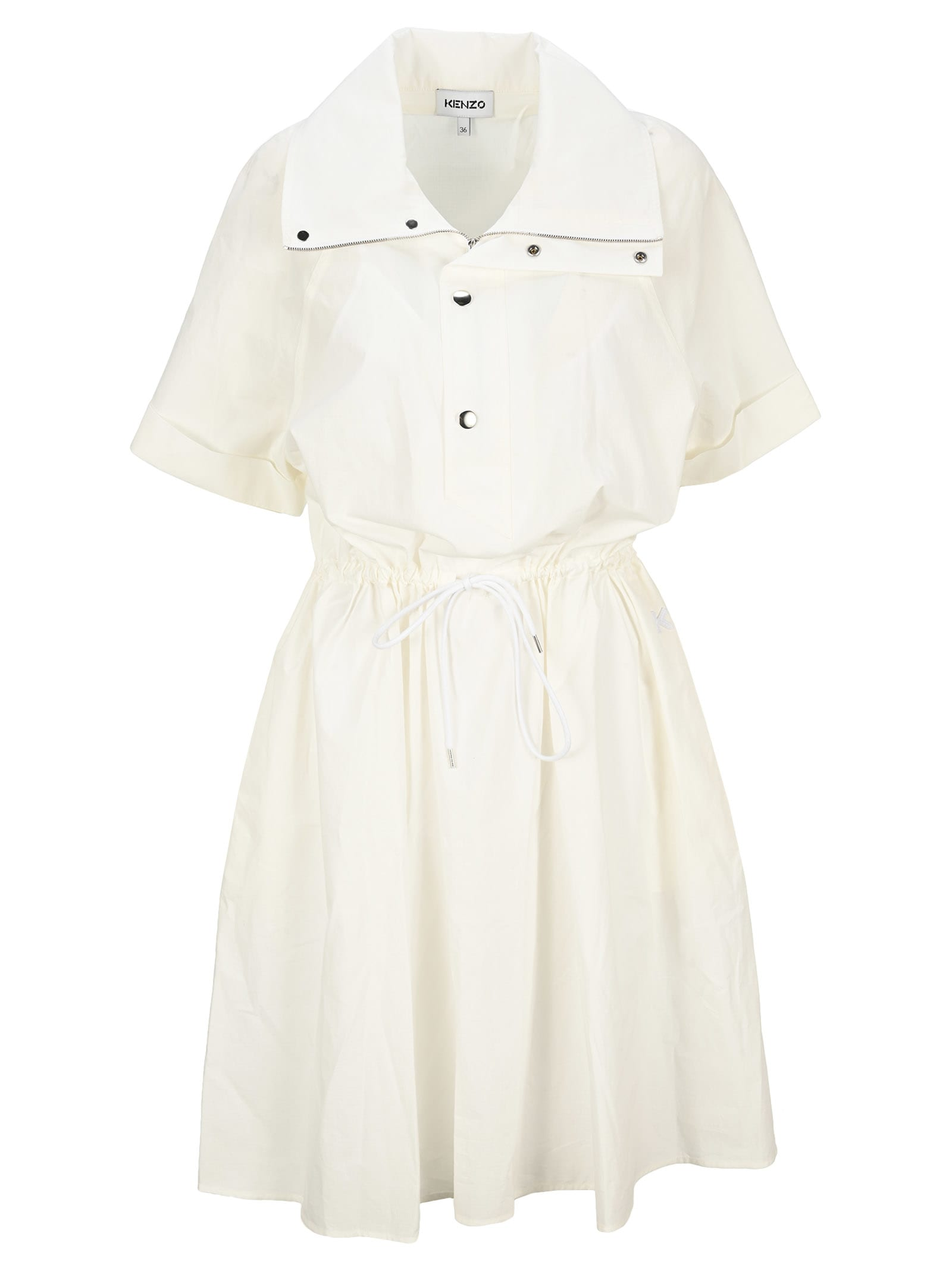 Buy Kenzo Fitted Shirt Dress online, shop Kenzo with free shipping