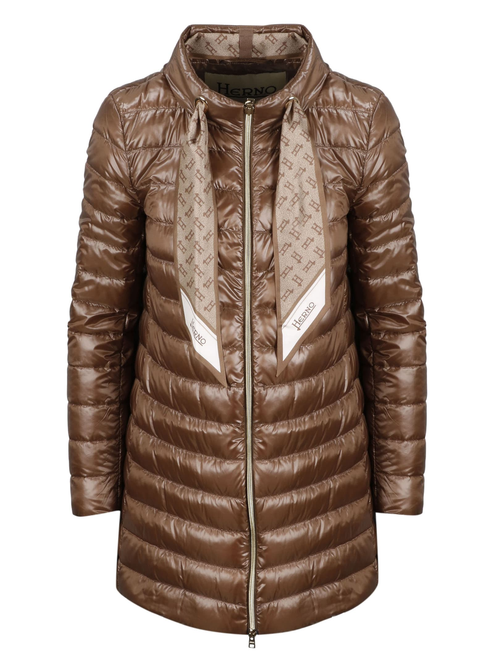 Handkerchief Coulisse Mid Down Jacket Herno