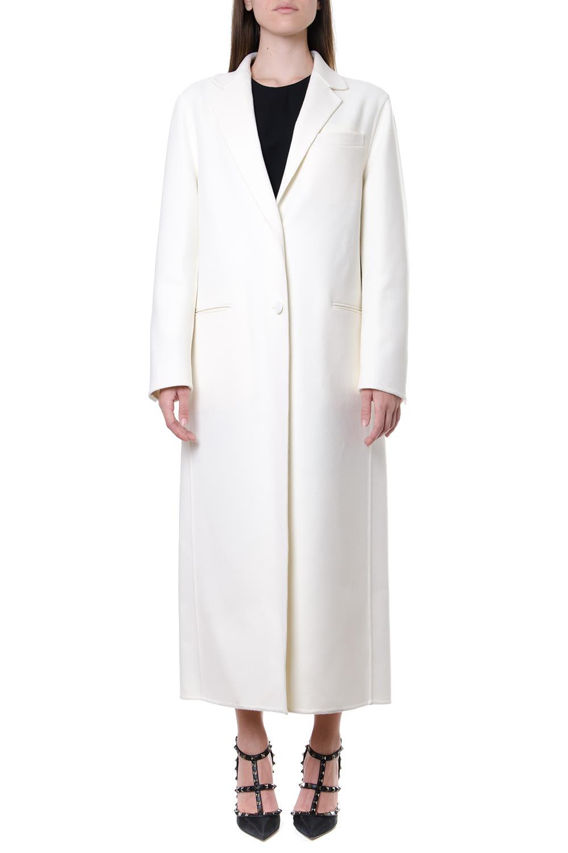 Valentino Ivory Wool-cashmere Blend Coat
