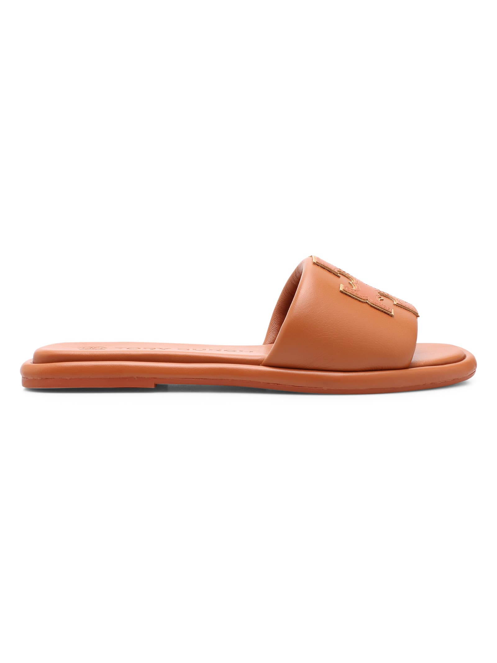 Buy Tory Burch double T Leather Flat Shoes online, shop Tory Burch shoes with free shipping