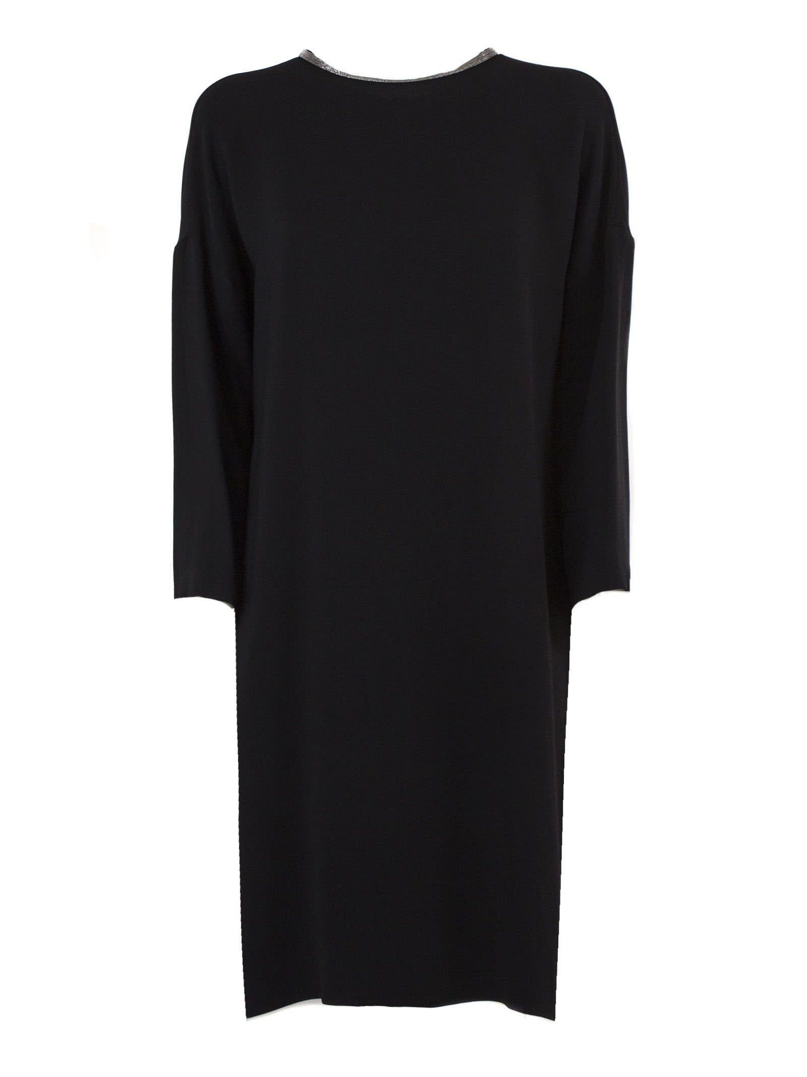 Photo of  Fabiana Filippi Black Viscose Dress- shop Fabiana Filippi  online sales