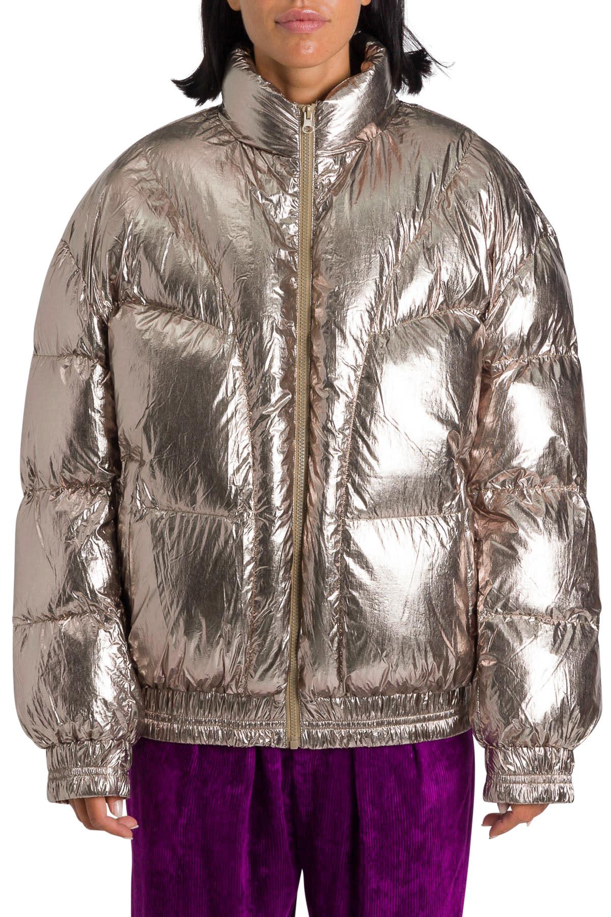 Photo of  Isabel Marant Étoile Kresten Zip-up Puffer Jacket- shop Isabel Marant Étoile jackets online sales