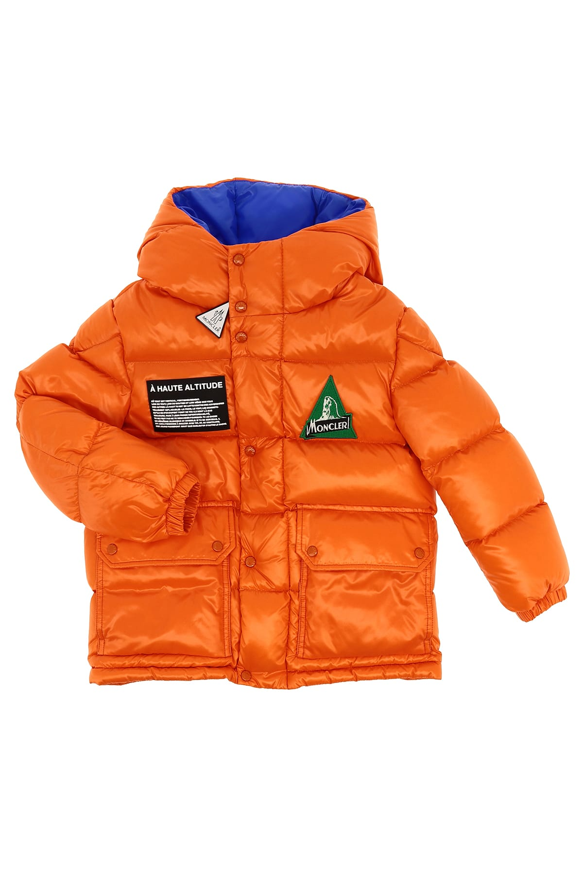 Moncler Kids' Ubaye Down Jacket In Arancione