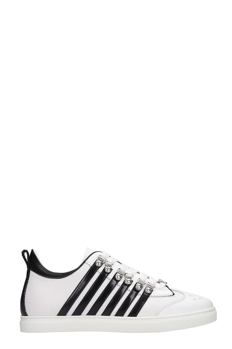 Dsquared2 251 Sneakers In White Tech/synthetic