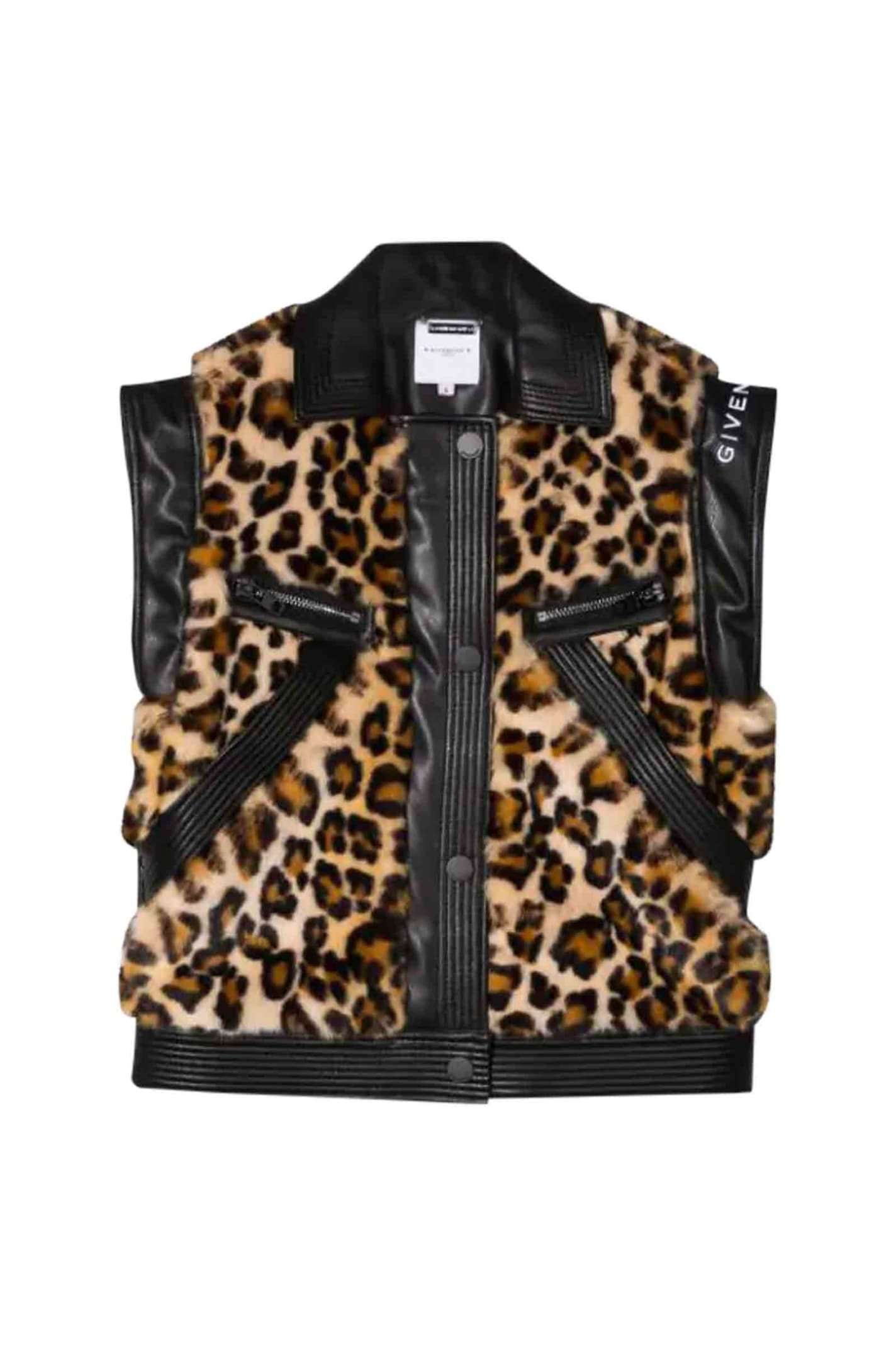 Givenchy Kids' Sleeveless Jacket With Print In Var. Uni
