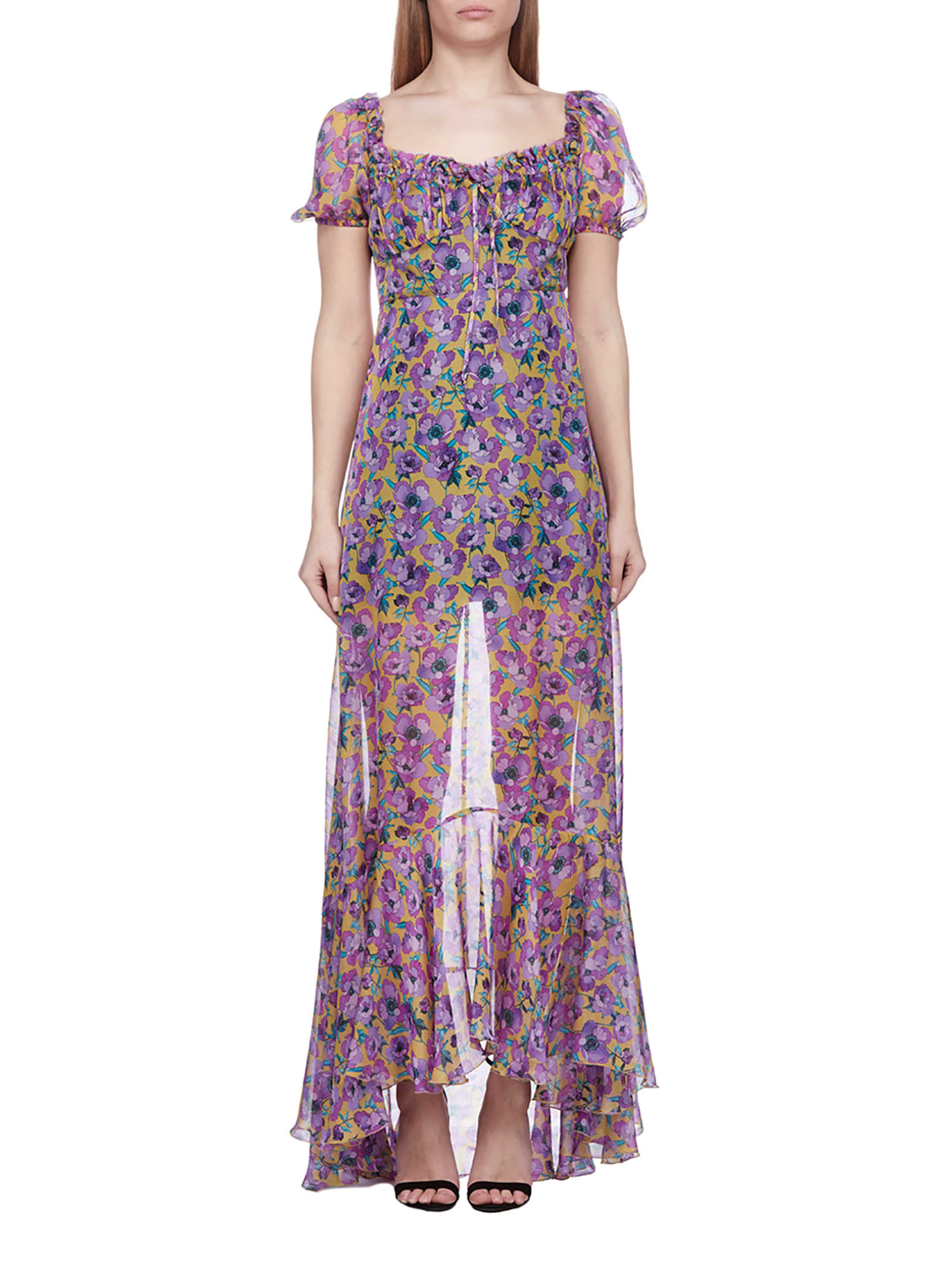 Buy Raquel Diniz Floral Print Sheer Dress online, shop Raquel Diniz with free shipping